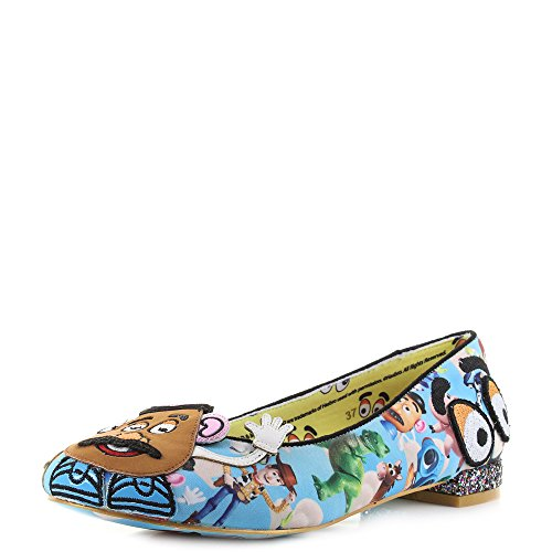 Irregular Choice x Toy Story Ballerinas Keep Em Togehter 4329-44A (39 EU, Blau/Mehrfarbig)