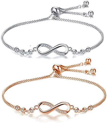 Baiye 1 stuk Infinity infinity symbool dames enkelbanden dames armband armband armband armband rosé gouden armbanden Partner