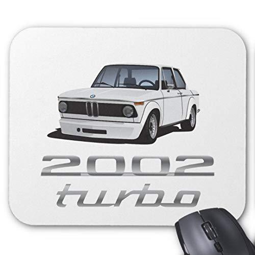 GBZ Mauspad, rutschfest, Gummi, rechteckig, für Computer, Laptop, BMW 2002 Turbo E20, Weiß
