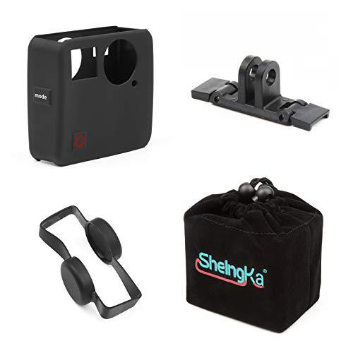 D&F 4-in-1 Zubehör für GoPro Fusion-Kit Aufbewahrungstasche + Silikonhülle + Objektivschutzkappe + Kunststoffschienenhalterung