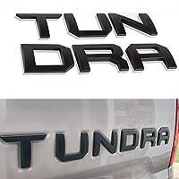 Super Repairman トヨタ タンドラ 2014-2019用 スペシャル3D亜鉛合金テールゲート挿入文字 マットブラック (デカールステッカーではありません)