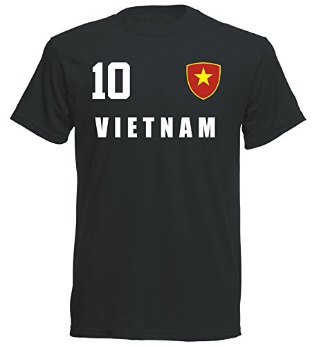 Vietnam WM 2018 T-Shirt Trikot - schwarz ALL-10 - S M L XL XXL (S)