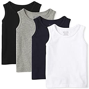 The Children s Place Baby Toddler Boys Mix and Match Tank Top Black/New Navy/Smoke/White 4 Pack 18-24 Months