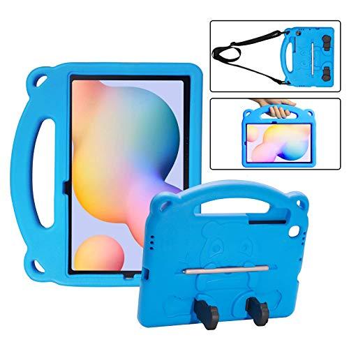 KINGSKEEN Funda para Samsung Galaxy Tab S6 Lite 10,4 '2020 (SM-P610 / P615), Funda Protectora de EVA para niños a Prueba de Golpes, con asa, Soporte Integrado, portalápices y Bandolera (Blue)