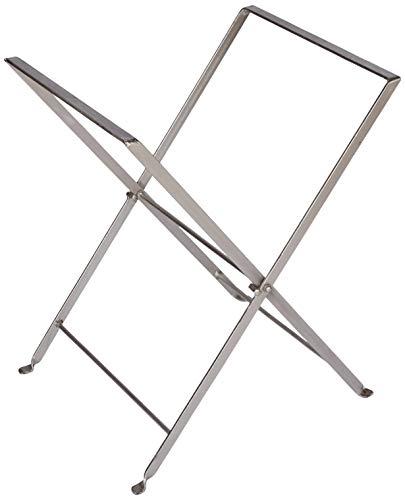 Better & Best 2581063 – Pieds Pliables pour Table Plateau, Couleur Argent