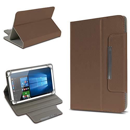 UC-Express Schutz Tasche für Tablet Hülle Schutzhülle Universal 10 Zoll Cover Hülle Etui Bag, Farben:Braun, Tablet Modell für:BLAUPUNKT Endeavour 1000 WS