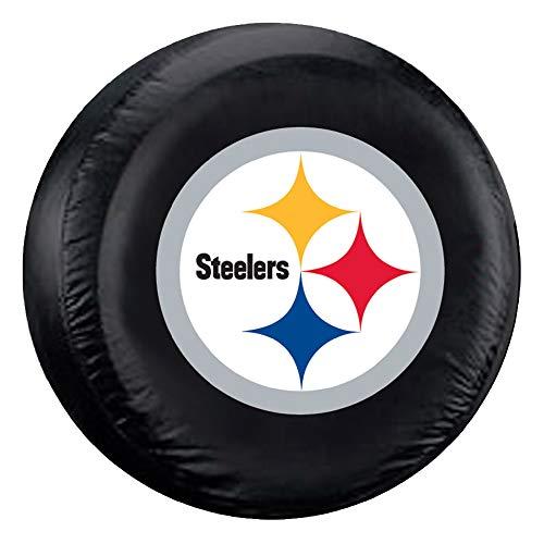 "Fremont Die NFL Pittsburgh Steelers Tire Cover, Standard Size (27-29"" Diameter)"
