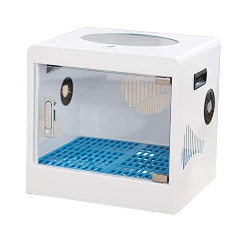TWW Caja De Secado para Mascotas, Pelo para Perros, Pelo para Gatos, Secador De Pelo, Bolsa De Secado, Secador Doméstico con Secador De Pelo,Blanco