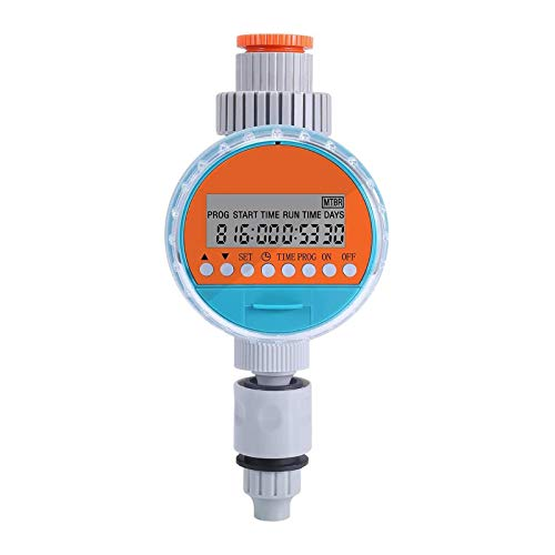 ZOTO Temporizador de Riego Automático, Programador de Riego Jardín con Pantalla LCD, Impermeable Reloj de Riego con Función de Memoria de Programa Programa de Riego Digital (hasta 30 Días)
