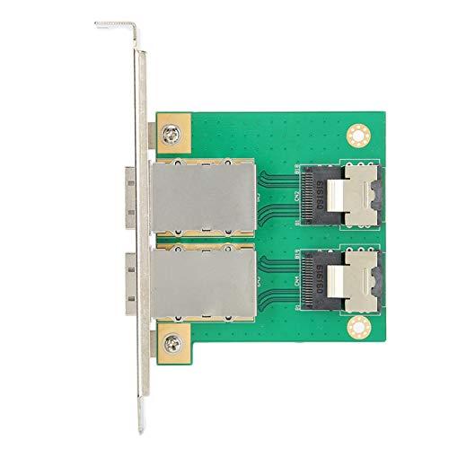 Socobeta Tarjeta Adaptadora Externa SFF-8087 Transferencia Electrónica 2 Puertos Interna Calidad Estricta 6GB / s para Laptop