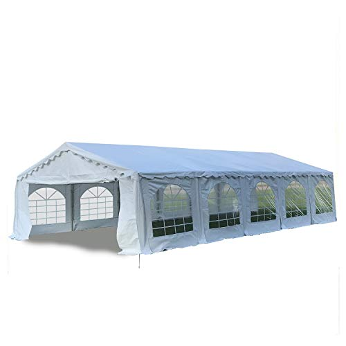 DELTA Canopies Budget PVC Party Tent Canopy Shelter 32'x20' - White