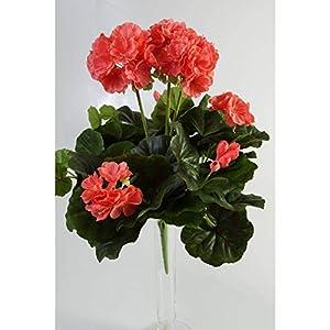 artplants.de Decorativo Geranio MIA en Vara, Rosa, 35cm, Ø 30cm – Geranio sintético – Planta Artificial