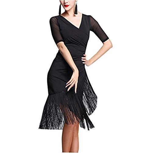 Vestido de Baile para Mujer Manga Corta - Summer Standard Party Ball Traje Waltz Escuela Team Dance Latina Falda-XXL Gorgeous
