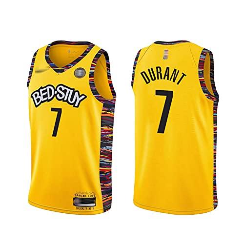 LLLS 2021 brǒǒklyn něts Men's Jersey, 7kevǐn-durànt Camisa de Baloncesto, Camiseta de la edición de bonificación, Camiseta de Malla Transpirable y Secado rápido, a S