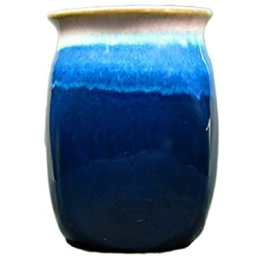 Creative Structures PRADO STONEWARE COLLECTION - Collectible Kitchen Utensil Accessory Jar/Caddy/Holder - Royal Blue