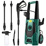 FIXKIT Electric Pressure Washer, 1800W Power Washer, Max 160Bar  480L/H, 2320 PSI High Pressure Jet Washer With 20ft Hose, Spray Gun for Home Garden Furniture Walls Deep Cleaning