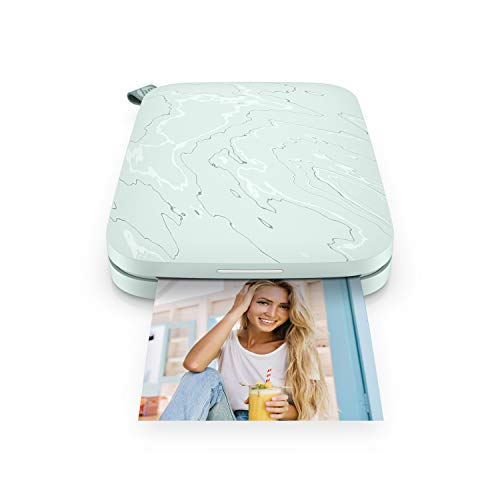 HP Sprocket Select Portable 2.3x3.4 Instant Photo Printer (Sea Mist) Print Pictures on Zink Sticky-Backed Paper from Your iOS & Android Device.