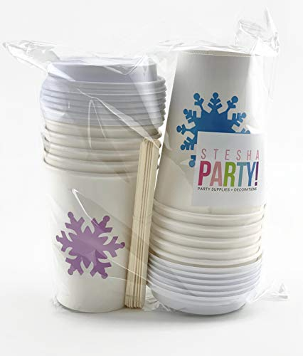 Snowflake Princess Ice Birthday Party Paper Cups with Lids  Idaho