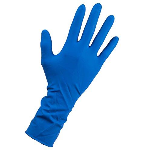 Caja 50 Guantes de Latex Azul Alta Protección - Talla L