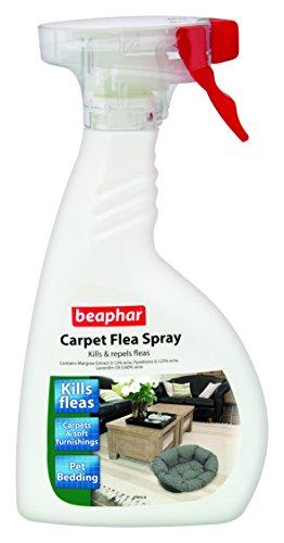 Beaphar Aerosol antipulgas para alfombra, mata y repele pulgas, 400ml