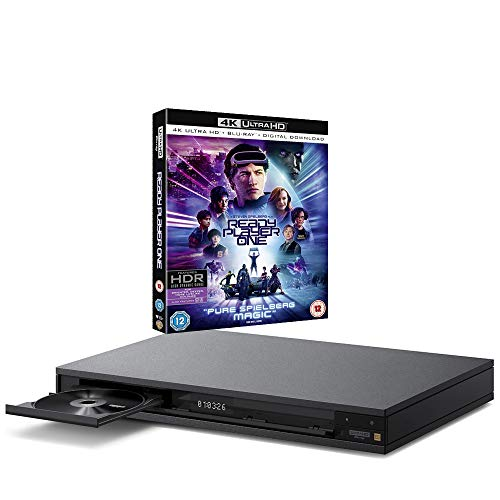 Sony UBP-X1100ES MULTIREGION Blu-ray Player Bundle with Ready Player One Ultra HD 4K Blu-ray Disc
