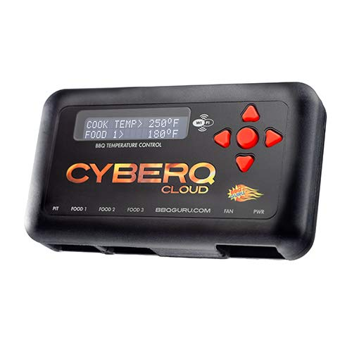 CyberQ BBQ Temperature Controller & Digital Meat Thermometer for Big Green Egg, Kamado Joe, Weber, and Ceramic Grills