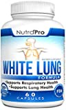 White Lung by NutraPro - Lung Cleanse & Detox.Support Lung Health. Supports Respiratory Health. 60 Capsule - Made in GMP Certified Facility.