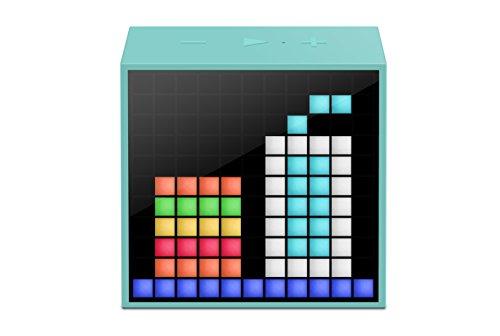 Divoom, Timebox Mini , Altoparlante Bluetooth Dotato Di Schermo LED RGB a 256 Colori, Azzurro