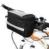 Mtlnkb Bike Handlebar Bag Large Bicycle Front Storage Pouch Bag Cycling Accessories Basket Bag