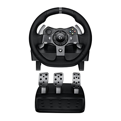 Logitech G920 Dual-motor Feedback Driving Force Racing Wheel with Responsive Pedals for Xbox One (Renewed)