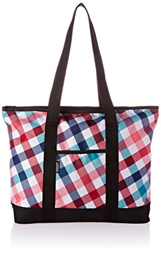 Everest Fashion Shopping Tote, Red/Blue, One Size