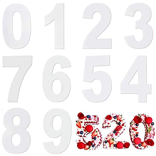 Zahlen Kuchenform Backform,Zahlen 0-9 Zahlen Backformen Kuchenformen,Number cake Backform Set für Geburtstag, Hochzeit, Jahrestag Tortendekoration 12 Zoll