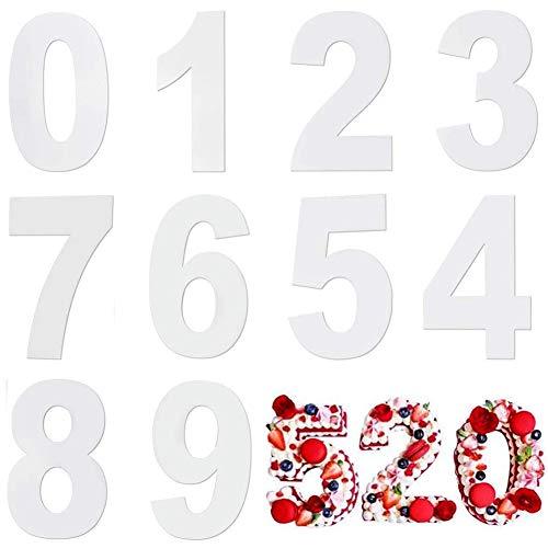 12 Inch Moldes Número para Tarta Cumpleaños,Números Cake Mould,Number Cake Mould 0-9 para Decoración de Tartas de Frutas y Bodas,Juego de Moldes para Aniversario