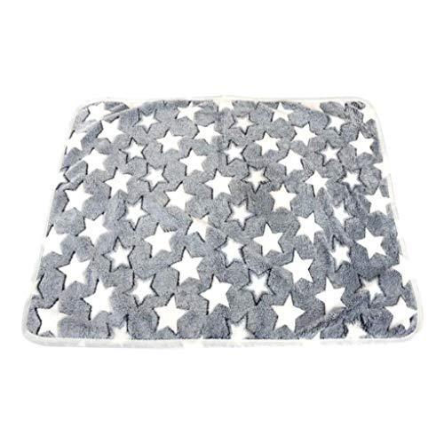 Guangcailun Mat Velvet Coral Impreso Manta para Mascotas Dormir Piso del cojín Calientes del Invierno Manta Interior del hogar Artículos para Mascotas