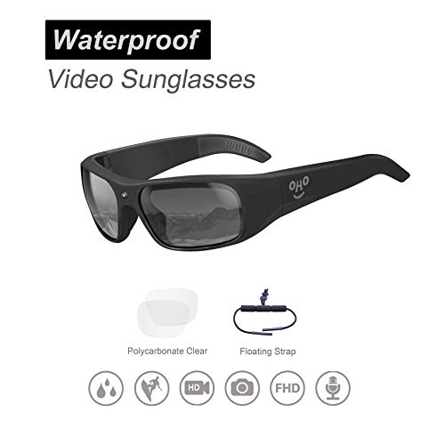 Our #4 Pick is the OhO sunshine Waterproof 1080p Video Sunglasses