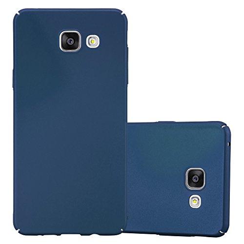 Cadorabo Funda para Samsung Galaxy A5 2016 en Metal Azul - Cubierta Protección de Plástico Duro Super Delgada e Inflexible con Antichoque - Case Cover Carcasa Protectora Ligera