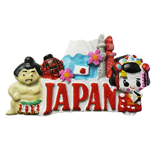 Japan 3D Kühlschrank Magnet Reise Aufkleber Souvenirs Collection, Kunstharz Japan Kühlschrank Magnet Home & Küche Dekoration aus China 4 × 7 cm Sumo & kimono