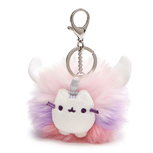 GUND Pusheen Super Pusheenicorn Unicorn Cat Plush Pom Deluxe Keychain, Multicolor, 4'