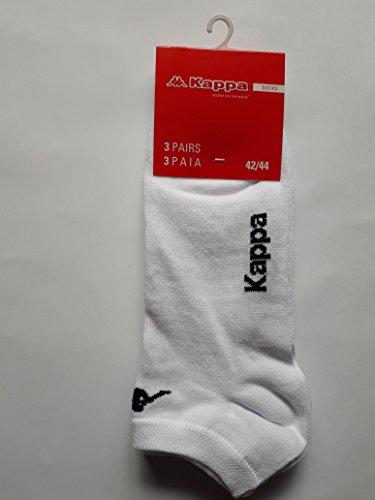 3 Paar Socken kurz Fantasy Kappa K006 (weiß, 36/38)