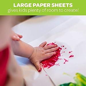 "Crayola Giant Fingerpaint Paper, 25 Pages, 16"" x 12"" (99-3405)"