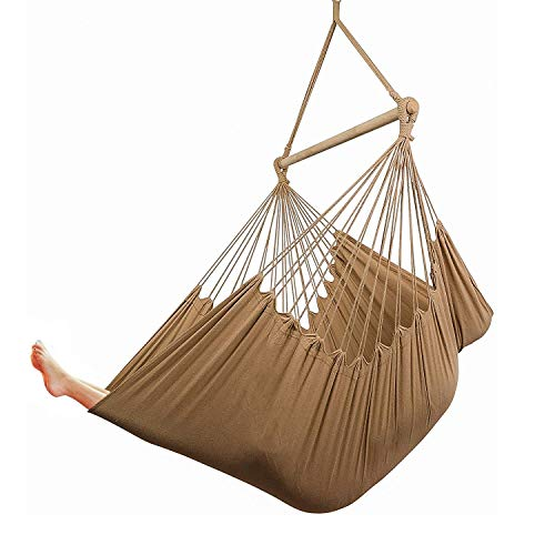 Cctro Xxl Large Brazilian Hammock Chair Hanging Rope Swing Seat Cotton Weave Extra Long Bed For Bedroom Yard Bedroom Porch Indoor Outdoor Coffee Buy Online In India At Desertcart