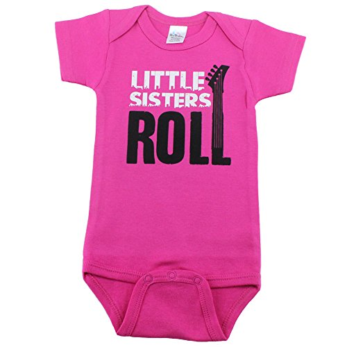 Nursery Decals and More Baby Girl Bodysuits for Little Sisters, 0-3 Month, Little Sisters Roll