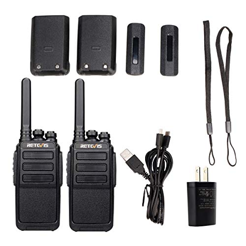 Retevis RT28 Walkie Talkies Rechargeable Long Range FRS Radio UHF VOX 16 Channels USB Charging 2 Way Radios Long Range Cruise Shipping Hiking Camping (2 Pack)