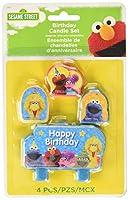 Sesame Street セサミストリート バースデーキャンドル 4個セット(エルモ/ビックバード/クッキーモンスター)