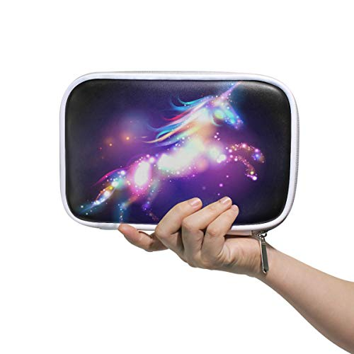 WXLIFE Galaxy Space Star Unicorn Multi-Functional Zippered Cosmetic Bags Travel Pouch Bag Makeup Passport Holder Storage Pencil Case Pen Bag for Kids Boy Girls School