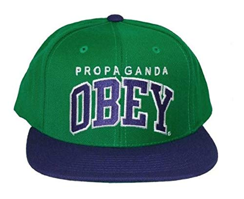 Obey - Casquette Snapback Homme Throwback - Green/Royal blue