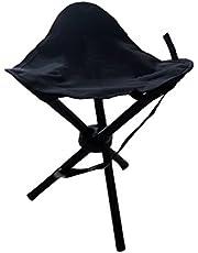 Driepotige kruk, 3-potige kruk, campingstoel, driepoot kruk, 40 cm zithoogte, handig 550 g licht, opvouwbaar