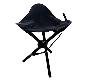 Tabouret de camping à trois pieds pliable - Hauteur d'assise : 40cm - 550g