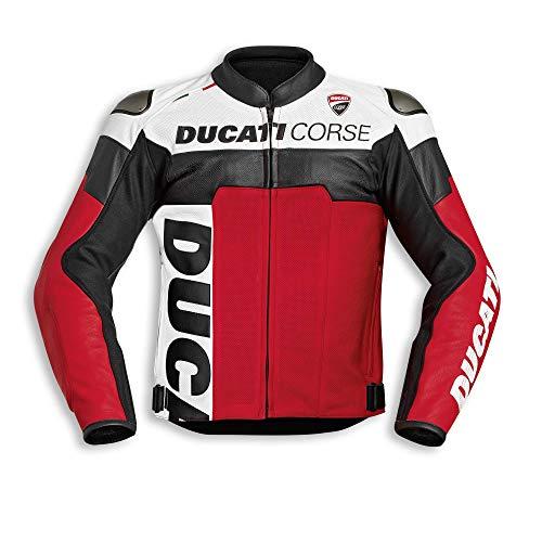 Ducati Corse C5 Herren Lederjacke perforiert Größe 54