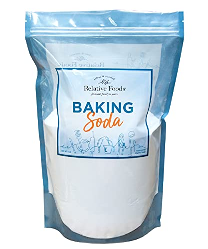 Relative Foods Baking Soda, 5 pounds, resealable bag, certified gluten free, no additives or preservatives.